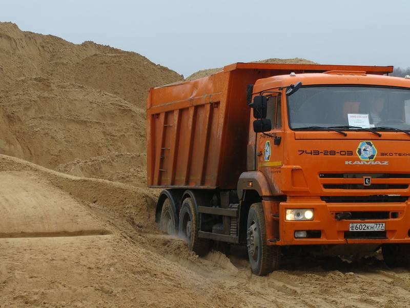 Доставка песка в Клинском районе